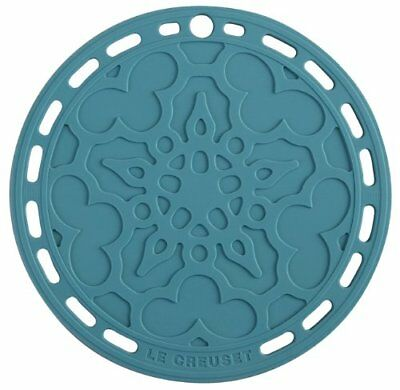 """Le Creuset Silicone 8"""" Round French Trivet, Caribbean"""