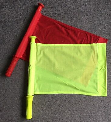 Linesman Touch Judge Football Rugby Hockey Training Referee Flags BNIB