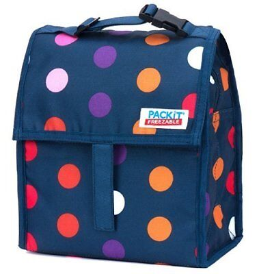 PackIt Freezable Lunch Bag with Zip Closure, Dots by Pa
