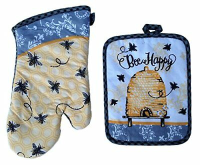 Kay Dee Designs Potholder & Oven Mitt Bundle / Set, Bee