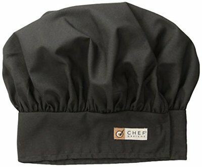 Red Kap Chef DesignsChef Hat, Black, Large