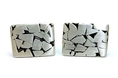 BIG Vtg SIGNED Modernist FRBA Sterling Silver ARTS and CRAFTS Abstract Cufflinks