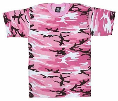 T-Shirt, Pink Camo, X-Small by Rothco
