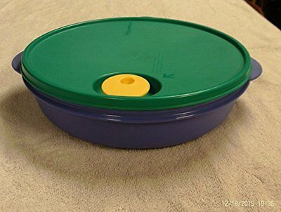 Tupperware Crystalwave Divided Dish (3) Sections Ocean