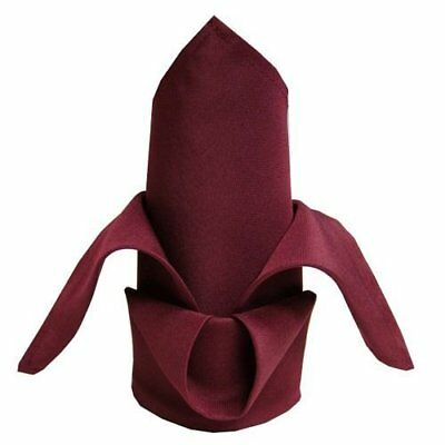 12 Burgundy Wedding Restaurant Dinner Cloth Napkins 20x
