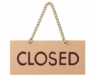 "Acrylic sign plate ""OPEN / CLOSED"" both sides sign the"