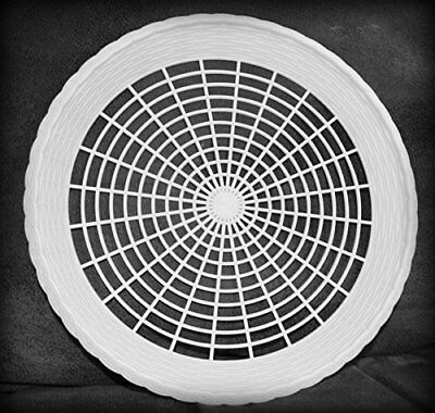 8 NEW WHITE PLASTIC PAPER PLATE HOLDERS, PICNIC, BBQ by
