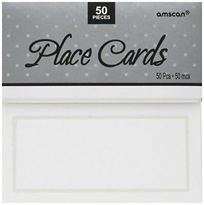Amscan  Pearl Place Card, White, 50 Count