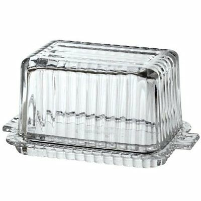 Anchor Hocking Fire-King Beveled Glass Butter Dish