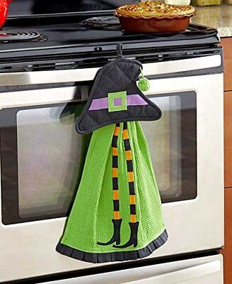 2-Pc. Halloween Kitchen Set (Green Witch)