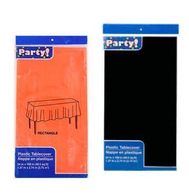 Black and Orange Halloween Colors ~ Plastic Table Cover