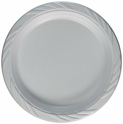 Blue Sky 200 Count Disposable Plastic Plates, 9 Inch, W