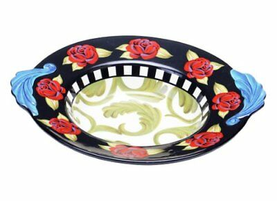 Certified International Classic Rose Shallow Bowl, 14.7