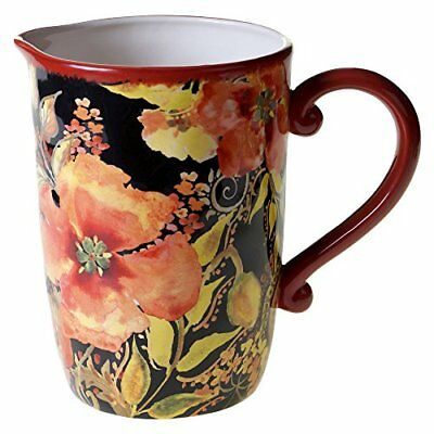 Certified International Watercolor Poppies Pitcher, 3 q