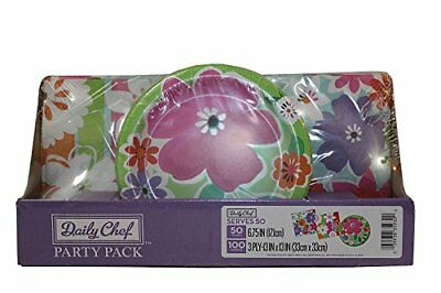 Daily Chef Floral Cutouts Party Pack. A Set of Disposab