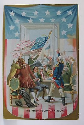 1908 Tuck THE FIRST FOURTH OF JULY embossed postcard