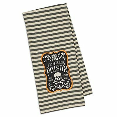 Design Imports Poison Embroidered Dishtowel