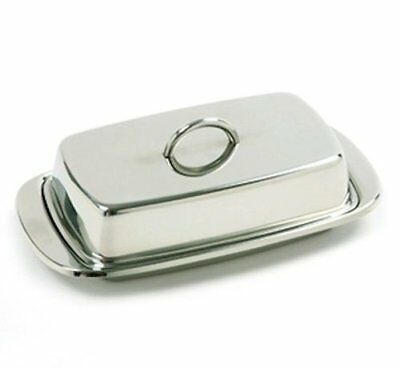 Double Butter Dish Table Serving Tray Storage Stainless