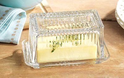 Home Essentials & Beyond 9517 Lifestyle Butter Dish Bow
