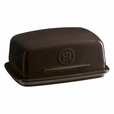 Emile Henry Made In France Charcoal Butter Dish