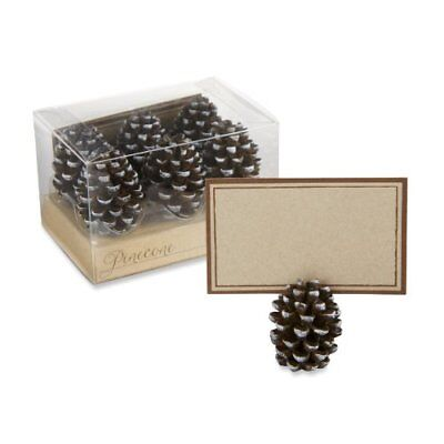 Kate Aspen Pinecone Place Card/Photo Holders, Set of 6