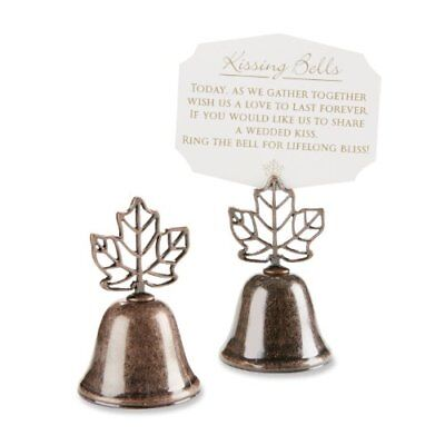 "Kate Aspen ""Lustrous Leaf"" Kissing Bell Place Card/Phot"