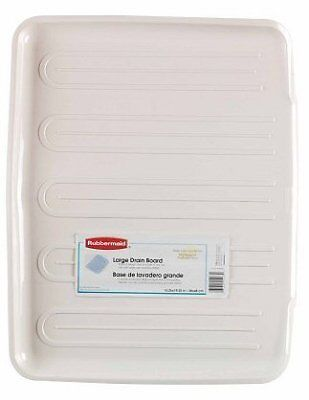 Rubbermaid Antimicrobial Drain-Away Tray, Bisque, Large