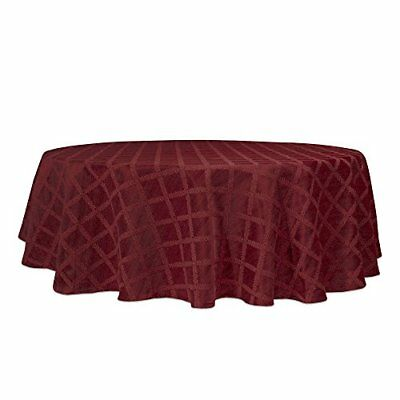 "Lenox Laurel Leaf 70"" Round Tablecloth, Cranberry"