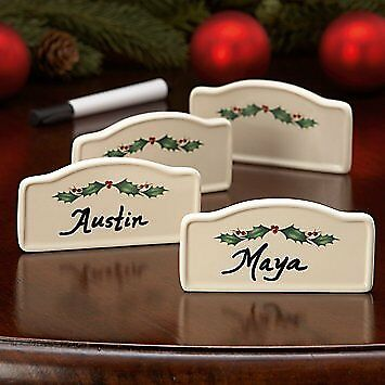 Lenox Holiday 4 Piece Place Card Holders New