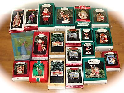 Lot Of 20 Hallmark Christmas Ornaments 1984-2002...santas, Lighted Diner+More!