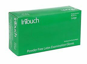InTouch White Latex Gloves, Large