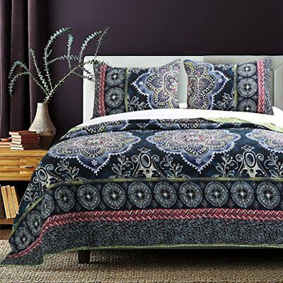 Barefoot Bungalow Twyla Midnight Quilt Set, 2-Piece Twi