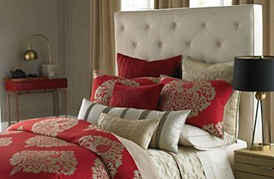 Bloomingdale's 1872 Haydn Euro Pillow Sham, Red