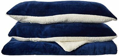 Chic Home Evie 3 Piece Blanket Set Soft Sherpa Lined Mi