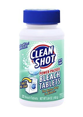 Clean Shot Bleach Tablets - 32 Ct. Concentrated Bleach