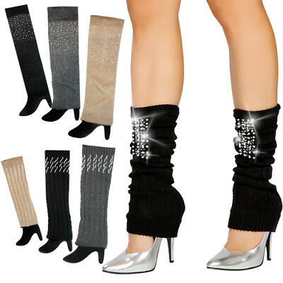 David & Young Knit Leg Warmers w/Rhinestone Highlights - Style and Comfort CWD