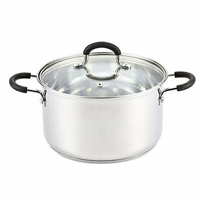 Cook N Home Stainless Steel Stockpot With Lid, 5 Quart,