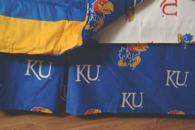 College Covers Kansas Jayhawks Printed Dust Ruffle, Que