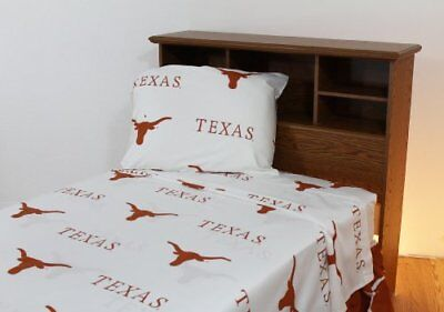 College Covers Texas Longhorns Printed Sheet Set - Quee