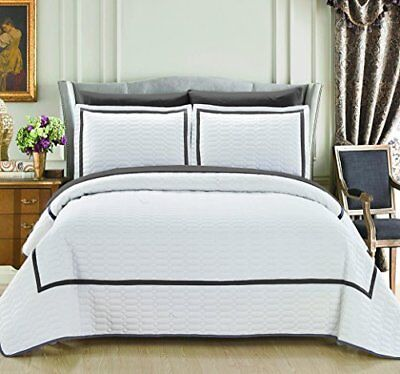 Chic Home 3 Piece Birmingham Hotel Collection 2 Tone Ba