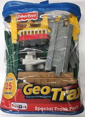 Brand New Fisher Price Geotrax Special Track Pack 25 Pieces