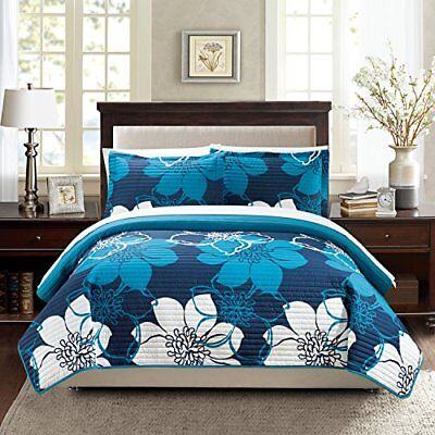 Chic Home 3 Piece Woodside Abstract Large Scale Floral