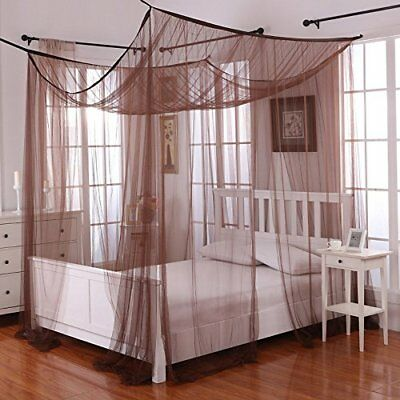 Epoch Hometex Palace Four-Poster Bed Canopy Chocolate