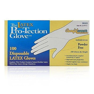 Comfitwear Disposable Latex Gloves, Powder Free, Small,