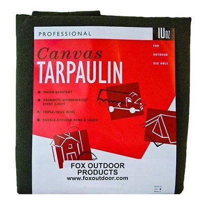Fox Outdoor Products OD Canvas Tarp, Size 7'x9'