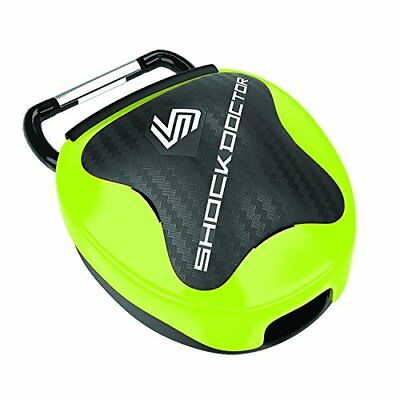 Shock Doctor Anti-Microbial Mouthguard Case, Shock Gree