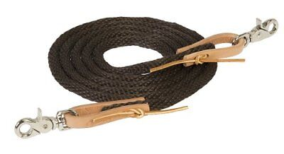 Weaver Leather Poly Roper Rein, 3/8-Inch x 8-Feet, Brow