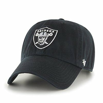NFL Oakland Raiders Clean Up Adjustable Hat, Black, One
