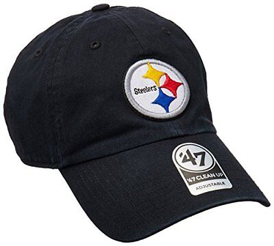 NFL Pittsburgh Steelers Clean Up Adjustable Hat, Black,