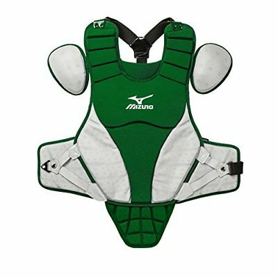 Mizuno Samurai Youth Chest Protector, Forest/Grey, 14""